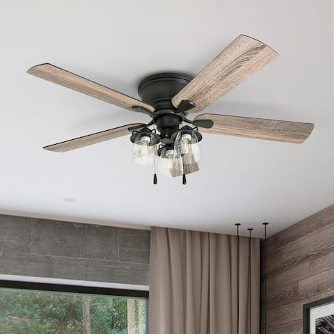 Carbon Loft Mephi 52-inch Coastal Indoor LED Ceiling Fan with Reversible Blades