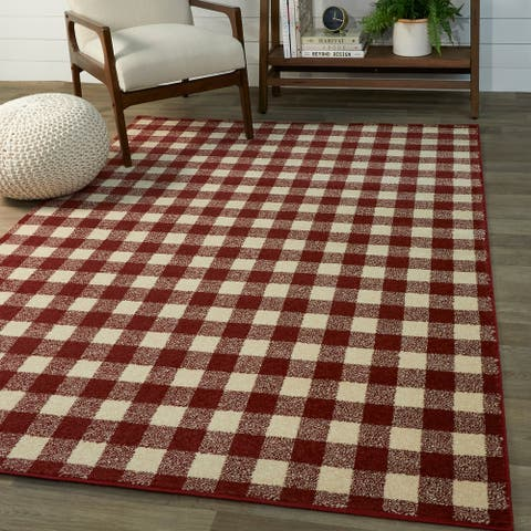 Rogers Gingham Area Rug