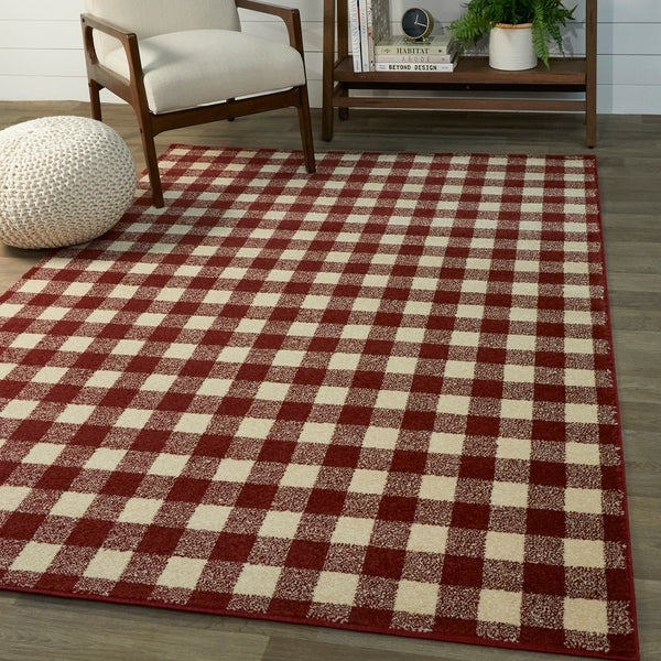 Rogers Gingham Area Rug. Opens flyout.