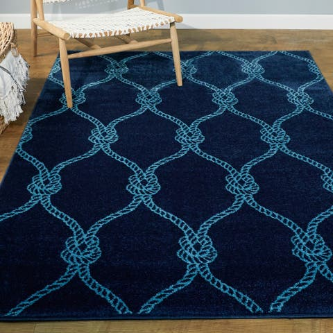 Fischer Nautical Trellis Area Rug