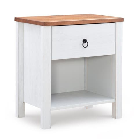 Merrin Rustic Oak Solid Wood Nightstand