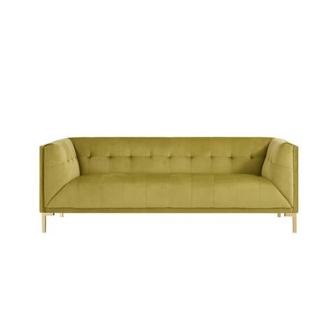 Chic Home Aster Velvet Upholstered Tufted Single Bench Cushion Sofa