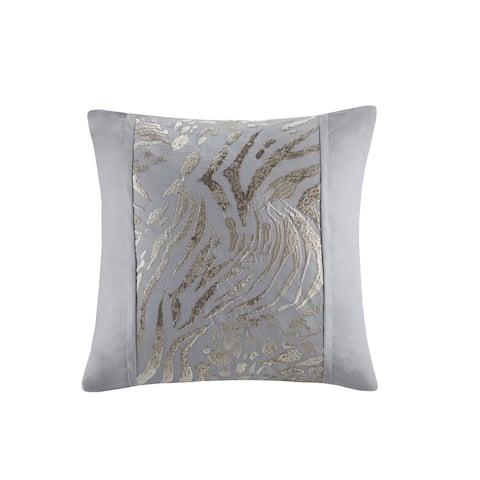 N Natori Dohwa Embroidered Cotton Square Decorative Pillow