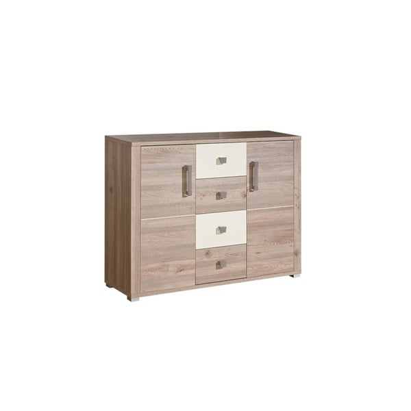 VERTO Light OAK&Pearl Gloss Sideboard
