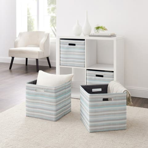 Alaric Striped Storage Bin 2PK