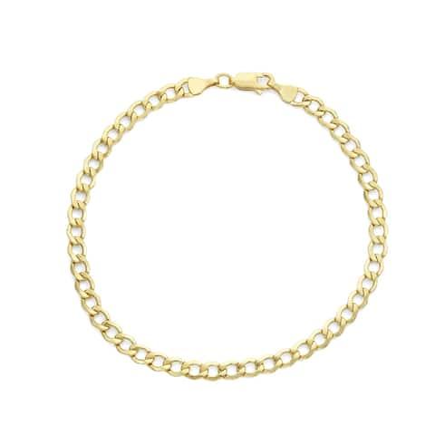 14k gold Men's Curb Chain 4.5mm Bracelet By Gioelli Designs