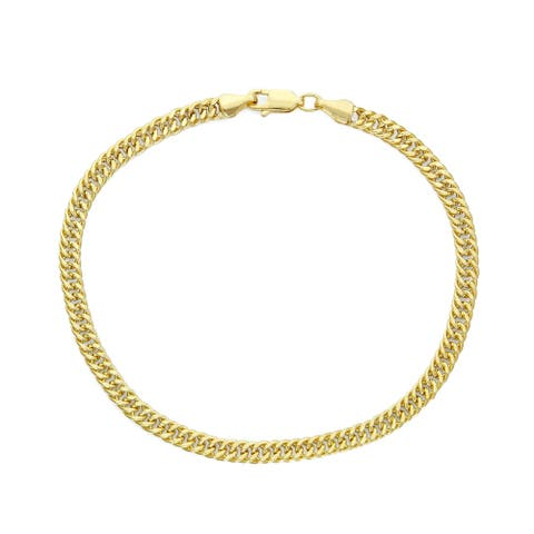 14k Gold Men's Miami Cuban Curb 4.3mm Bracelet by Gioelli