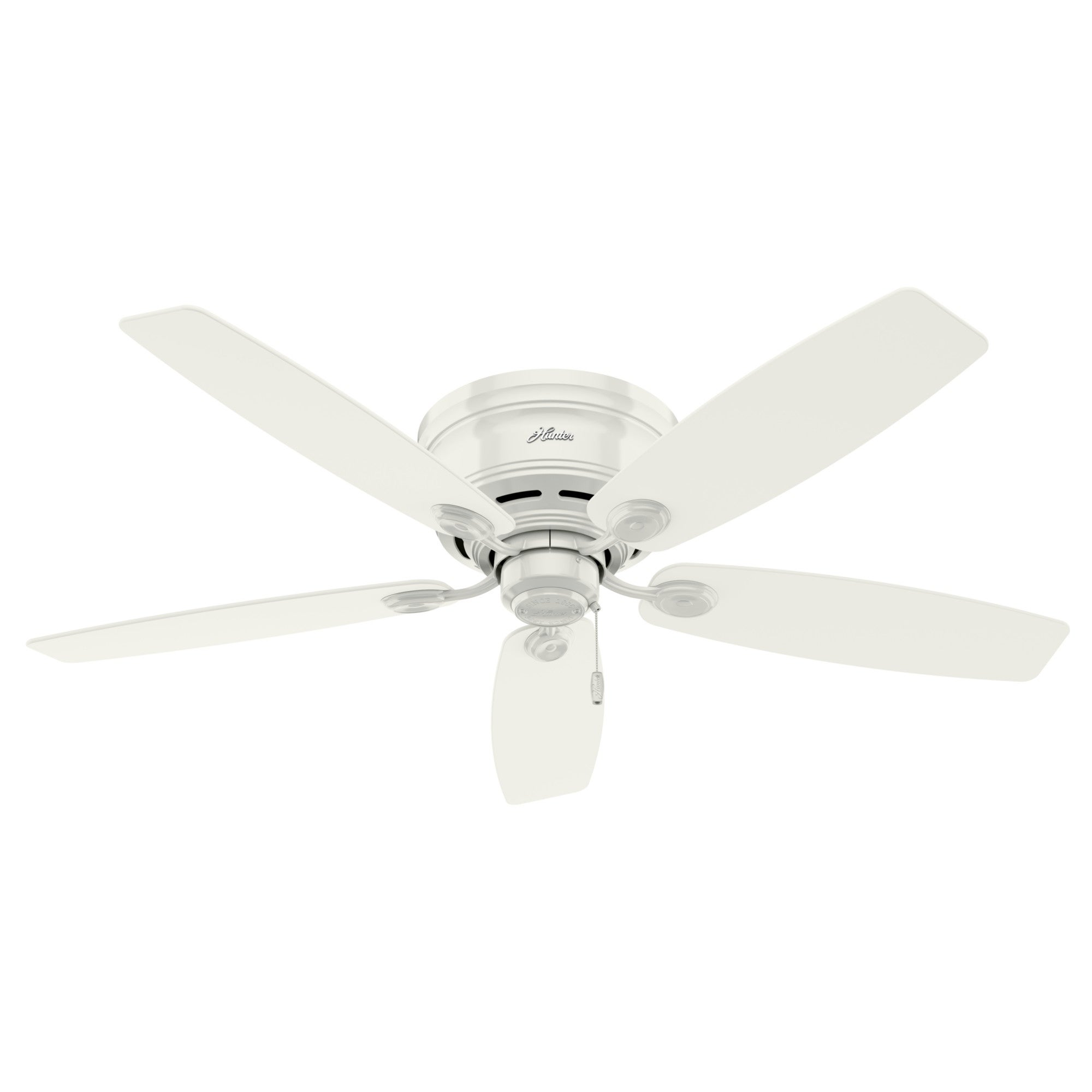 Shop Black Friday Deals On Hunter 52 Low Profile Indoor Ceiling Fan With Led Light Kit And Pull Chain Overstock 30880330