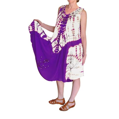 Peach Couture Embroidered Umbrella Caftan Sun Dress