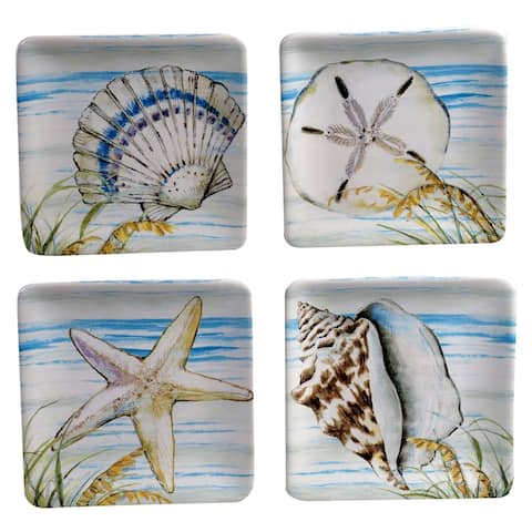 Certified International by the Sea 6-inch Canape/Luncheon Plates (Set of 4)