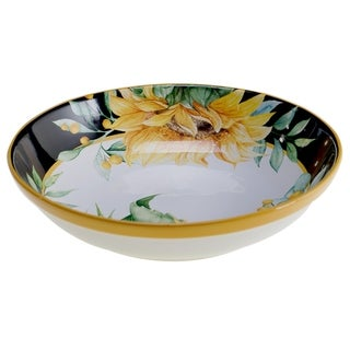 Certified International Sunflower Fields 144 oz. Serving/Pasta Bowl