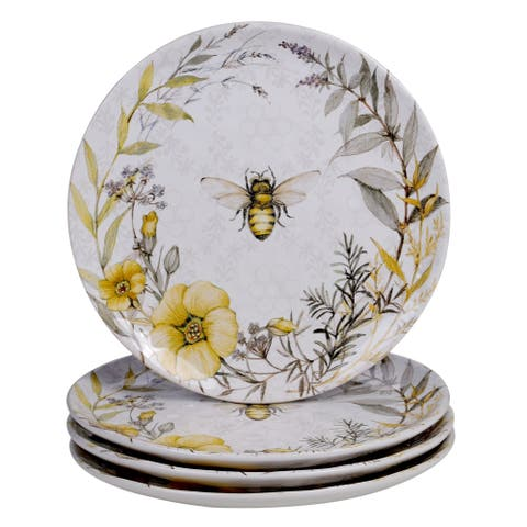 Certified International Bee Sweet 10.75-inch Dinner Plates (Set of 4)
