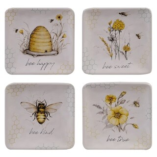 Certified International Bee Sweet 6-inch Canape/Luncheon Plates (Set of 4)