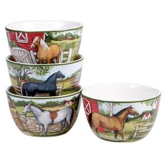 Link to Certified International Clover Farm 5.25-inch Ice Cream/Dessert Bowls (Set of 4) Similar Items in Dinnerware