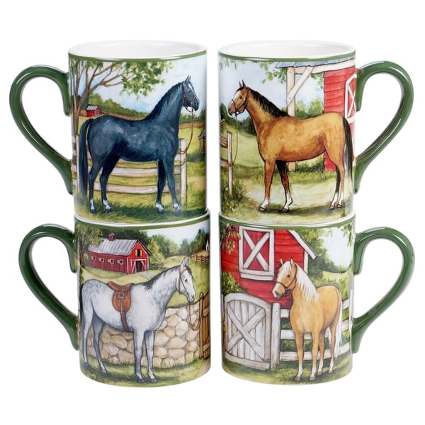 Certified International Clover Farm 16 oz. Mugs (Set of 4)