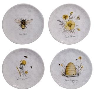 Certified International Bee Sweet 8.5-inch Salad/Dessert Plates (Set of 4)