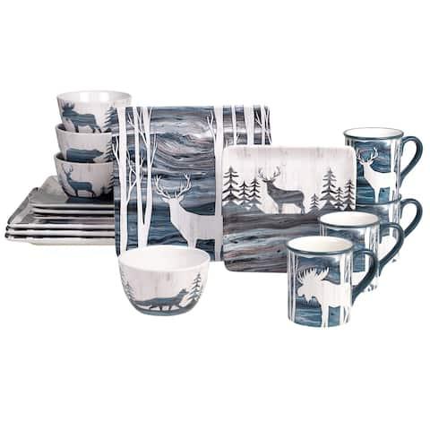 Certified International Fluidity Lodge 16-piece Dinnerware Set (Service for 4)