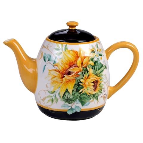 Certified International Sunflower Fields 40 oz. Teapot