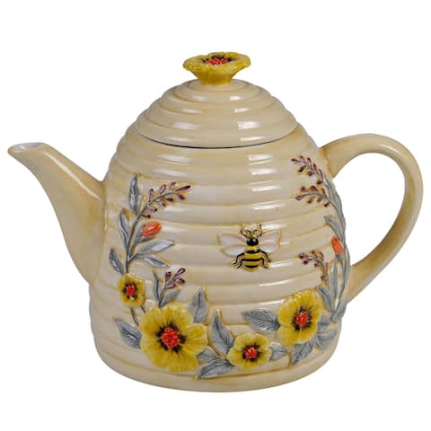 Certified International Bee Sweet 32 oz. 3D Beehive Teapot