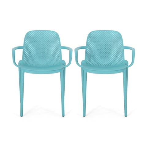 """Gardenia Outdoor Modern Stacking Dining Chair by Christopher Knight Home - 23.30"""" W x 21.20"""" D x 32.00"""" H"""