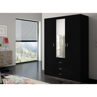 Link to Copper Grove Oldroad 59-inch Black Wood and Glass Armoire Similar Items in Bedroom Furniture