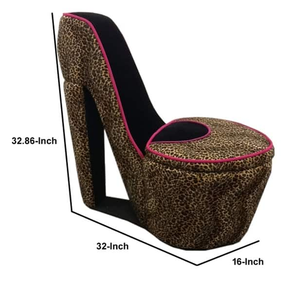 Animal Print High Heel Shaped Chair