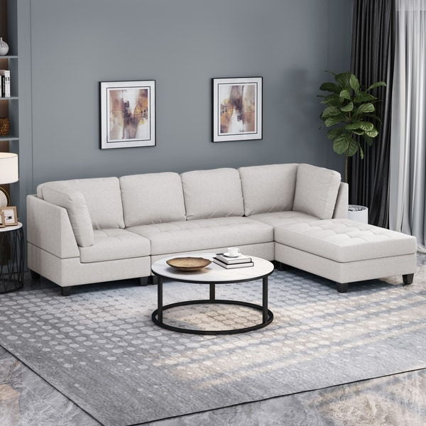 Findon Contemporary 4-seater Fabric Sectional by Christopher Knight Home. Opens flyout.
