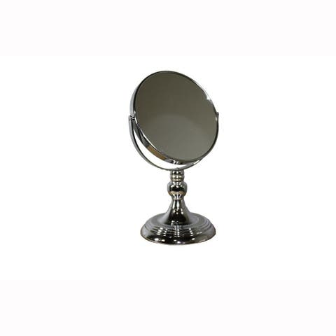 Metal Magnifying Makeup Mirror with 3X Magnification, Silver