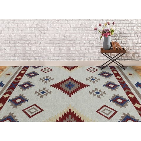 The Curated Nomad Sorrel Southwestern Flatweave Area Rug