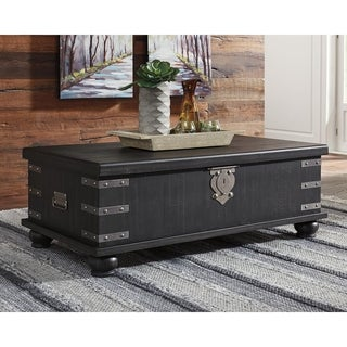 Delmar Casual Rect Lift Top Cocktail Table, Black