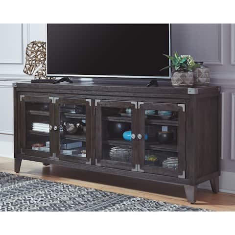 Todoe Contemporary Extra Large TV Stand, Brown