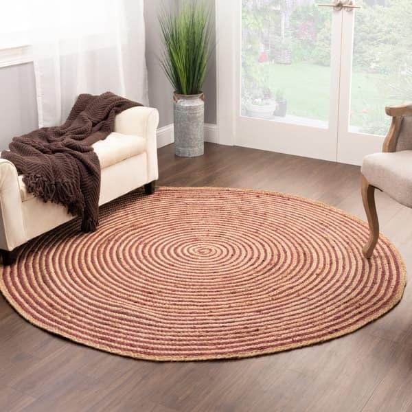 Shop Miranda Haus Sonoma Braided Jute Indoor Round Area Rug On Sale Overstock 30884833
