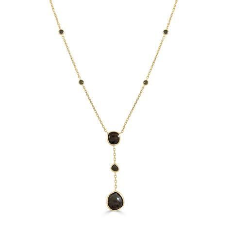 Raw Diamond Drop Pendant Necklace 14k White Gold 16.67 ct