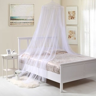 Oasis Round Collapsible Hoop Sheer Mosquito Net Bed Canopy