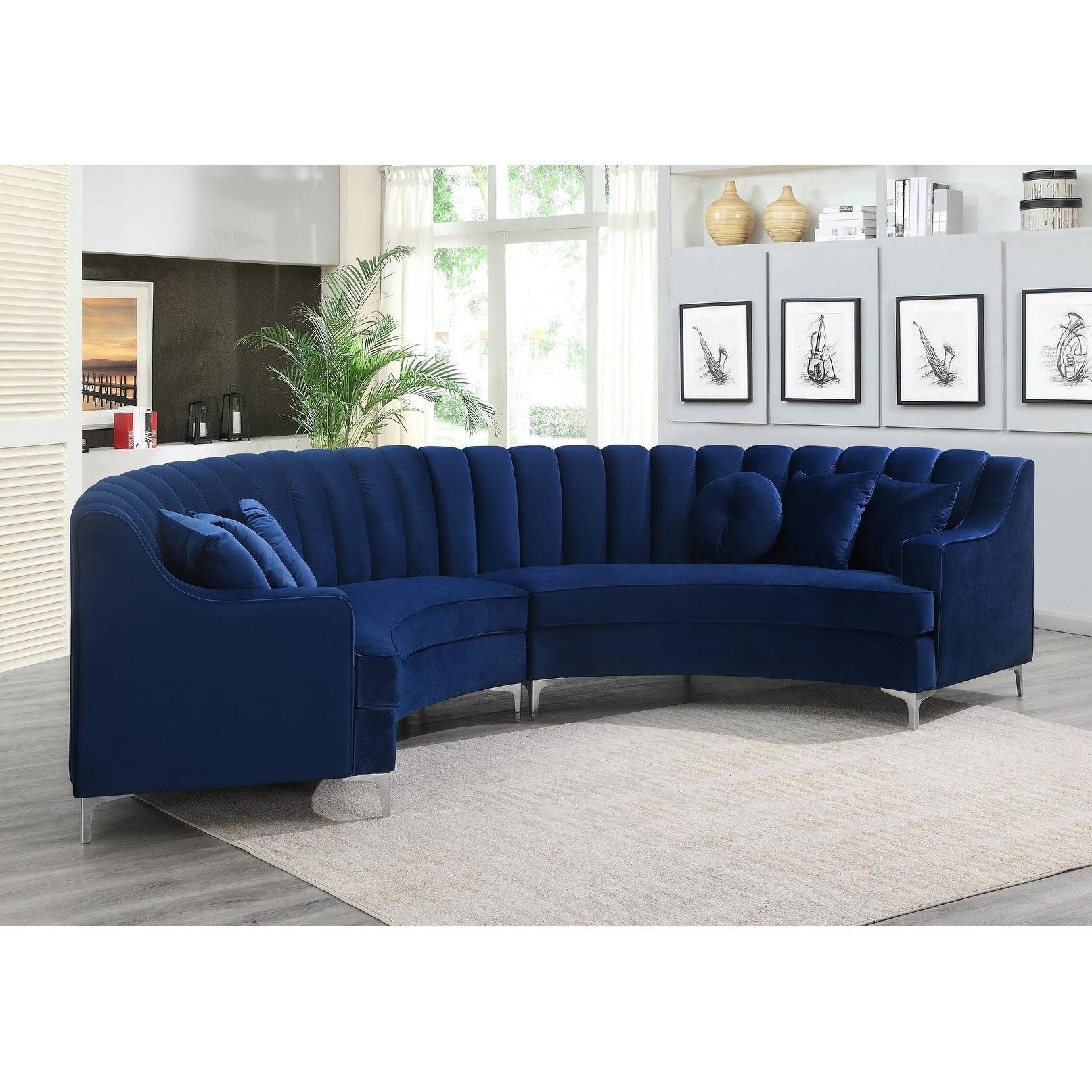 Modern Curved Velvet Sectional Sofa 141 8 X 28 X 35 1 141 8x28x35 1 Overstock 30884971