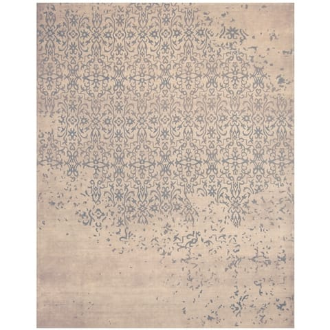 Handmade Khotan Wool Rug (India) - 7'9 x 9'6