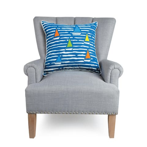 Waterline Boat Pillow by Kate Nelligan
