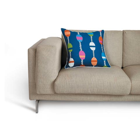 Bobberline Pillow by Kate Nelligan