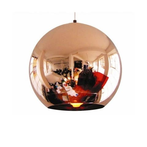 "Modern 17"" Copper Round Pendant"