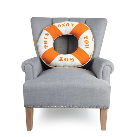Life Ring Shaped Pillow by Kate Nelligan