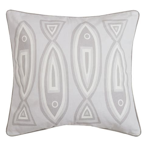 Neutral Fish Pillow by Kate Nelligan