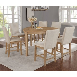 Best Quality Furniture 7-Piece Counter Height Dining Set with Triangle Shaped Table