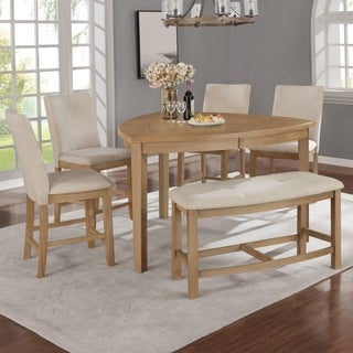 Link to Best Quality Furniture 6-Piece Counter Height Dining Set with Triangle Shaped Table Similar Items in Dining Room & Bar Furniture