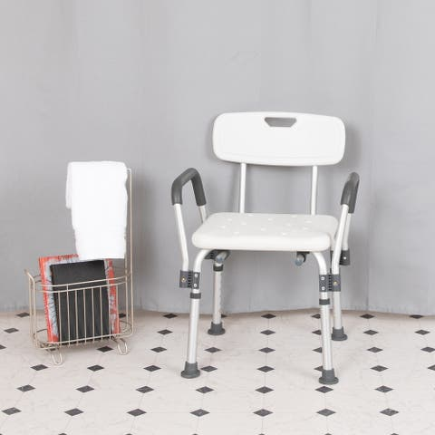 300 Lb. Capacity Adjustable Bath & Shower Chair with Depth Adjustable Back