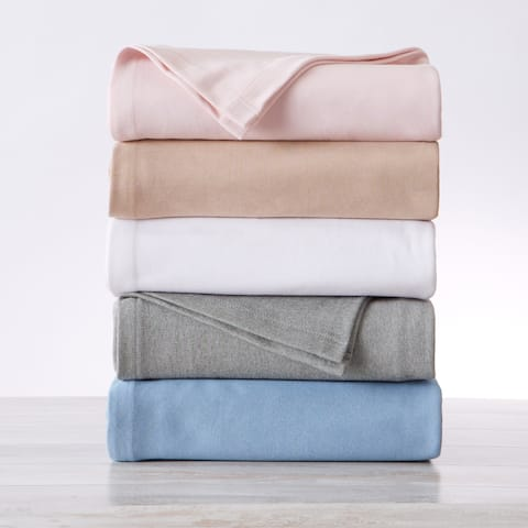 Great Bay Home Lyla Textured Knit Cotton Blanket