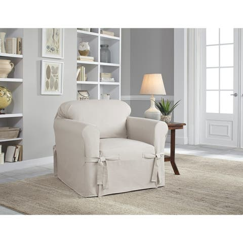 Serta Relaxed Fit Linen Look Slipcover