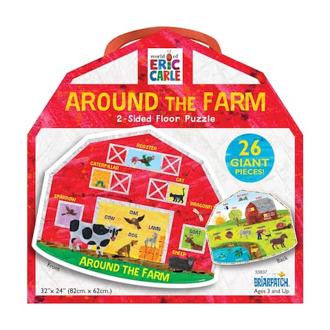 The World of Eric Carle - Around the Farm 2-Sided Floor Puzzle: 26 Pcs