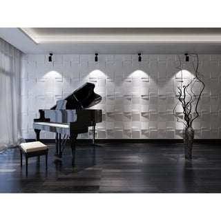 """Link to 3D Fiber Wall Panelling, 20""""x20""""/pc - 24pc Similar Items in Wall Coverings"""