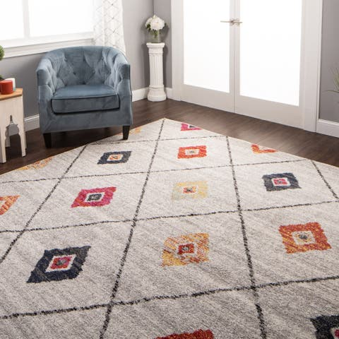 Miranda Haus Anton Modern Geometric Lattice Area Rug
