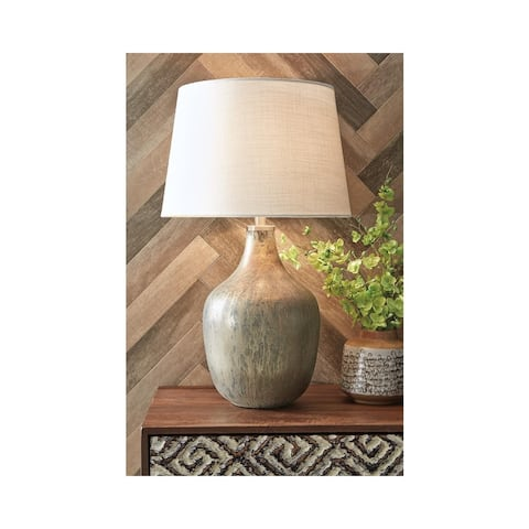 Mari Gray/Gold Finish Glass Table Lamp